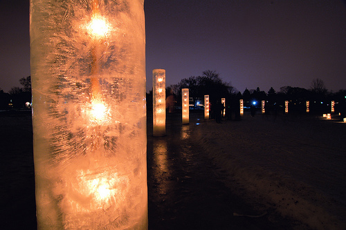 Inspired Diy Ice Luminaries For The Holiday Diy Home